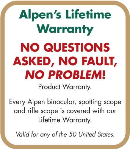 Alpen Lifetime Warranty