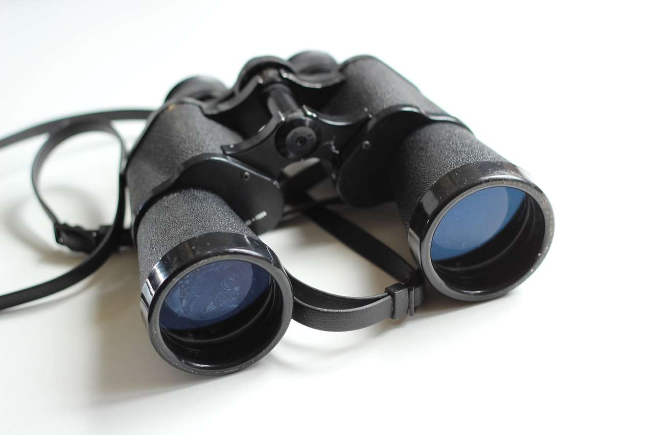 binoculars, old, antique
